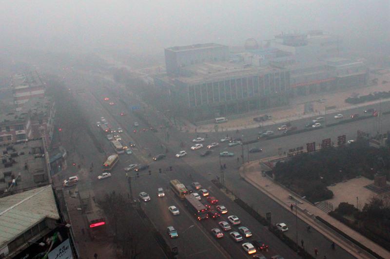 高清:山东省连续两天发布霾黄色预警