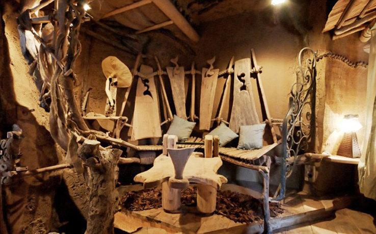 客房.每间客房的装修都不一样,分别基于不同的童话故事.在