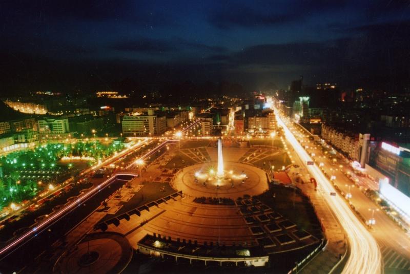 广场夜景-六盘水市图片