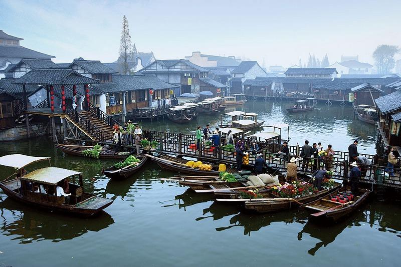 乌镇风景手绘图