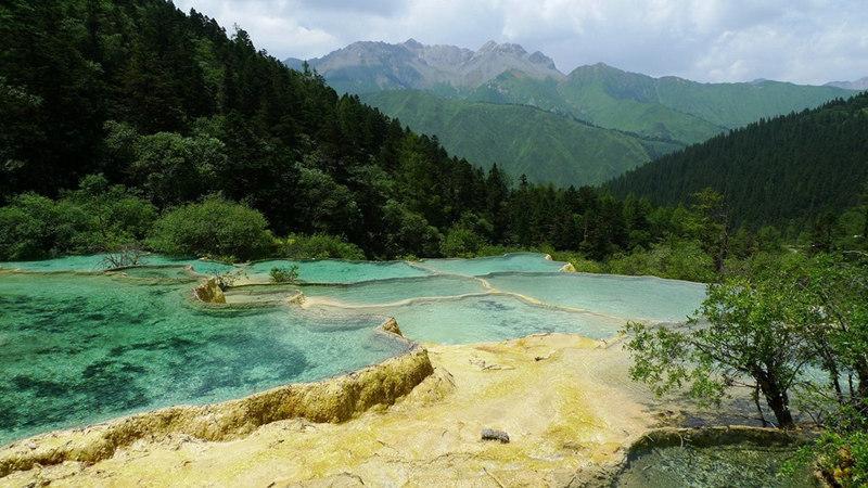 中国风景仙境手绘