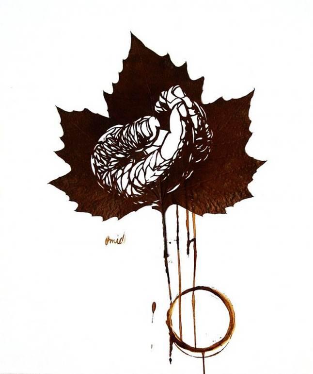 少儿树叶剪纸图案大全