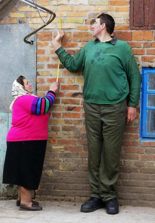 56米,曾被认为是世界上最高的人.
