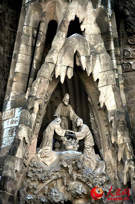 组图:巴塞罗那圣家堂上的人物雕塑【2】