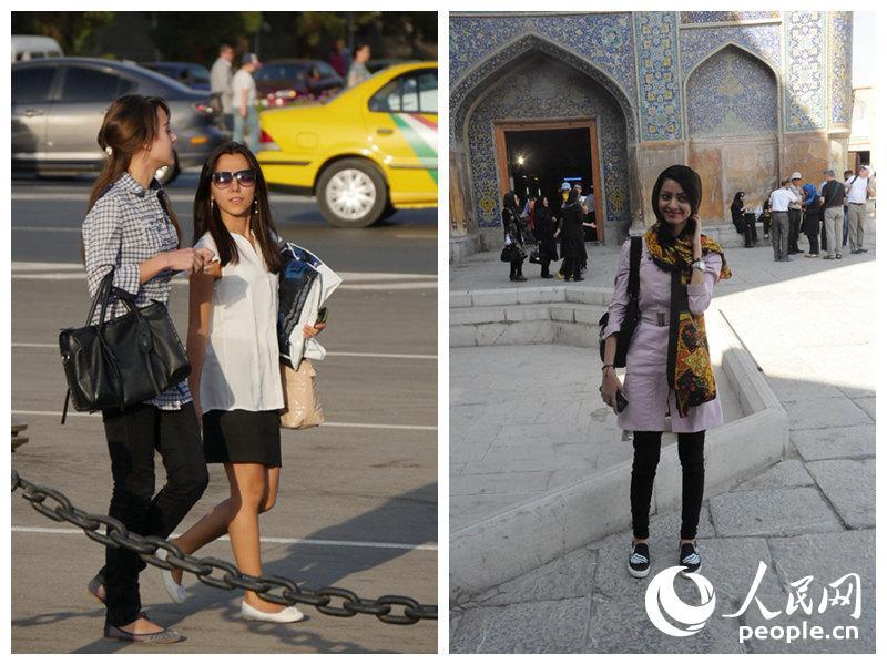 迷人的伊朗美女从你身边擦肩而过