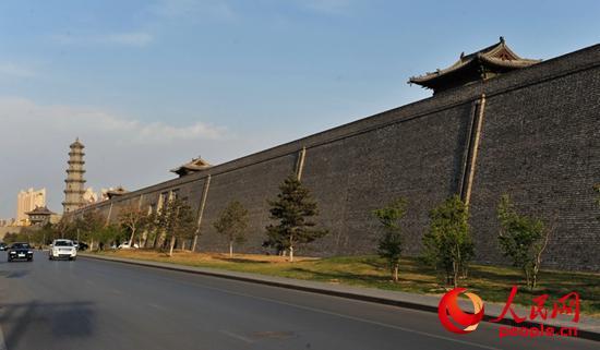 高清:日落余晖 大同古城墙【2】