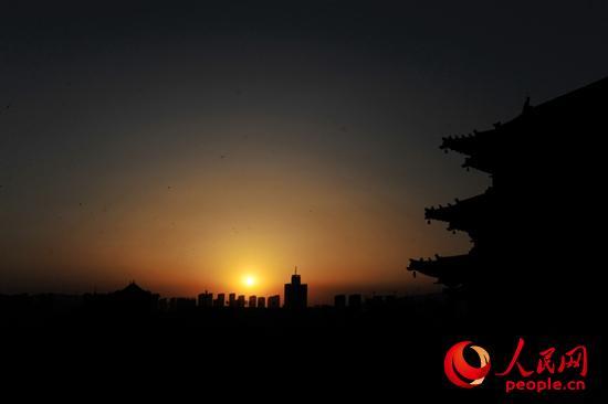 高清:日落余晖 大同古城墙【4】