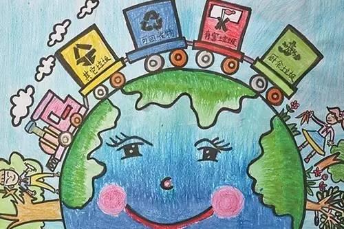 喜迎十九大手儿童画-震泽古镇2016暑期系列活动
