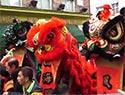 伦敦中国城舞龙狮