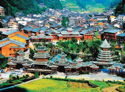 资料图片  如果说,民族文化和自然生态是贵州省黔东南苗族侗族自治州