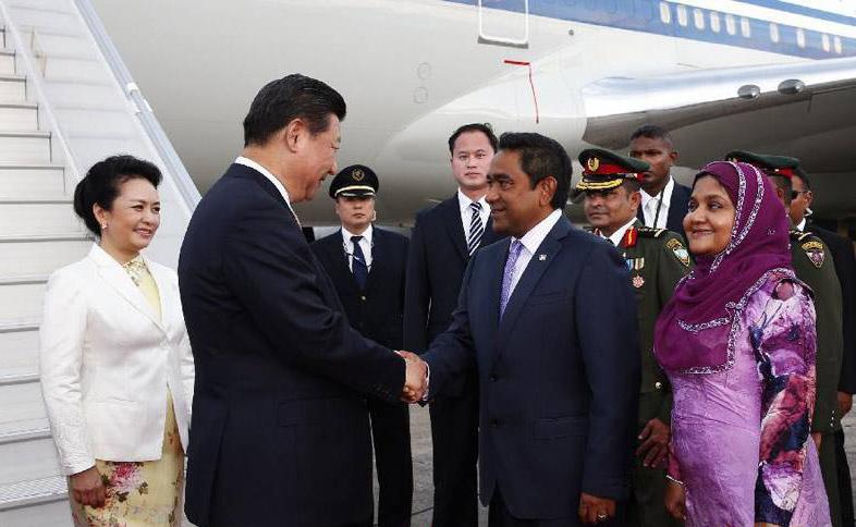 国家主席习近平对马尔代夫进行国事访问