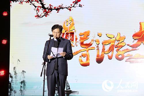 国家旅游局副局长王晓峰上台致辞。实习生王赵童 摄