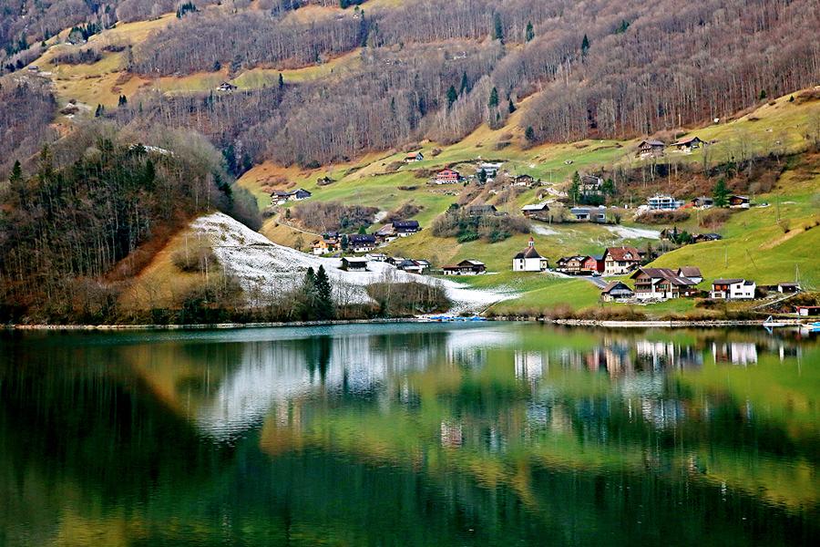 瑞士风景高清png