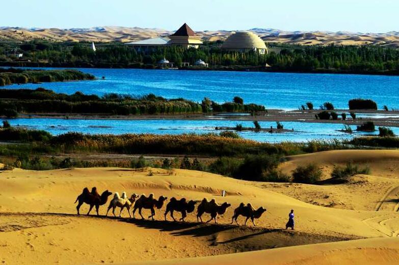 内蒙古库布其国家沙漠公园特色旅游线路保护自然景观,打造生态天堂。