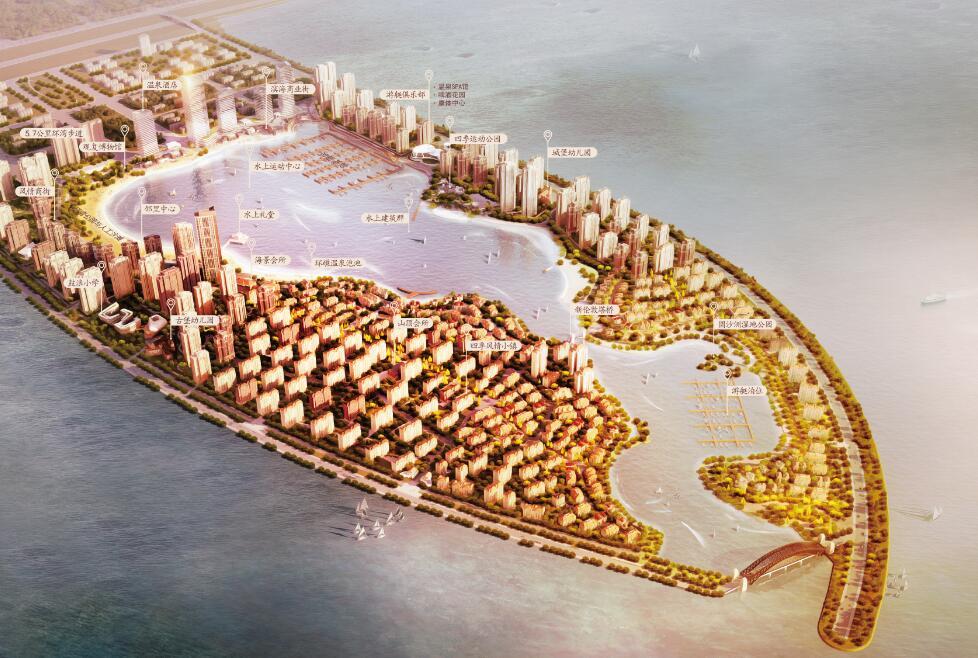 鼓浪・水镇落户天津中新生态城,南北相望,打造属于天津的海上桃花源、北方鼓浪屿。