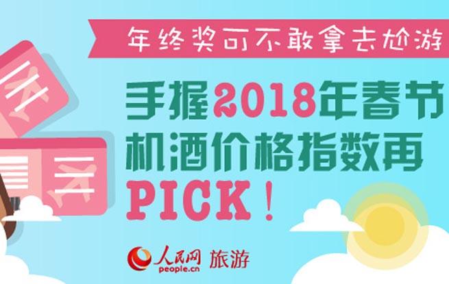 图解2018年春节机票、酒店价格指数