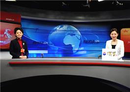 杨安娣委员在演播室接受专访