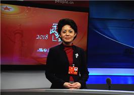 杨安娣委员在人民网演播室