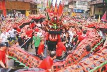 香港元朗举行天后诞大巡游