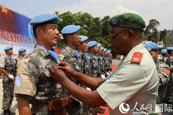 """中国第22批赴刚果(金)维和部队获联合国"""""""