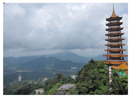 清水岩庙的佛塔