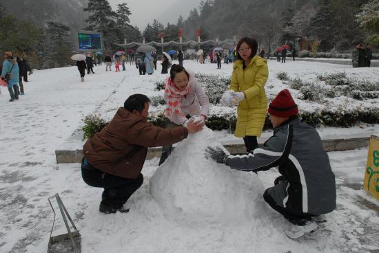 沟口堆雪人