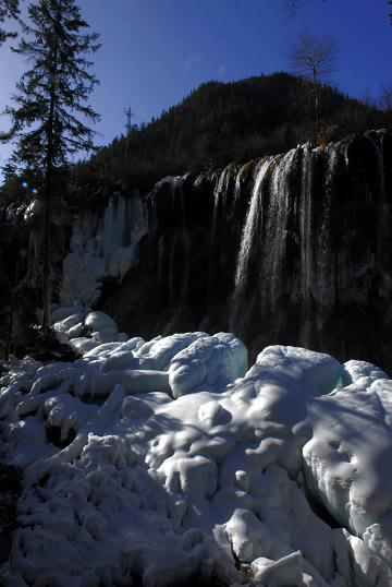 诺日朗冰瀑