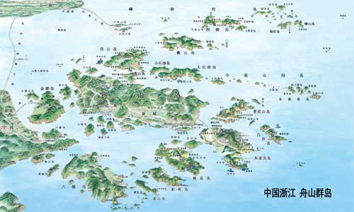 舟山群岛地图,舟山浪岗岛地图,浙江舟山群岛地图_点力图库